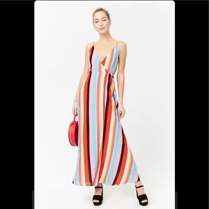 Forever 21 striped rainbow dress